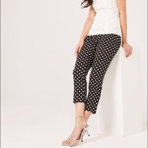 Jules & Leopold Black Trouser white polka dots XL